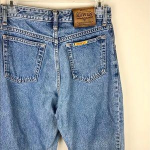 Vintage Edwin High Waisted Denim Mom Jeans
